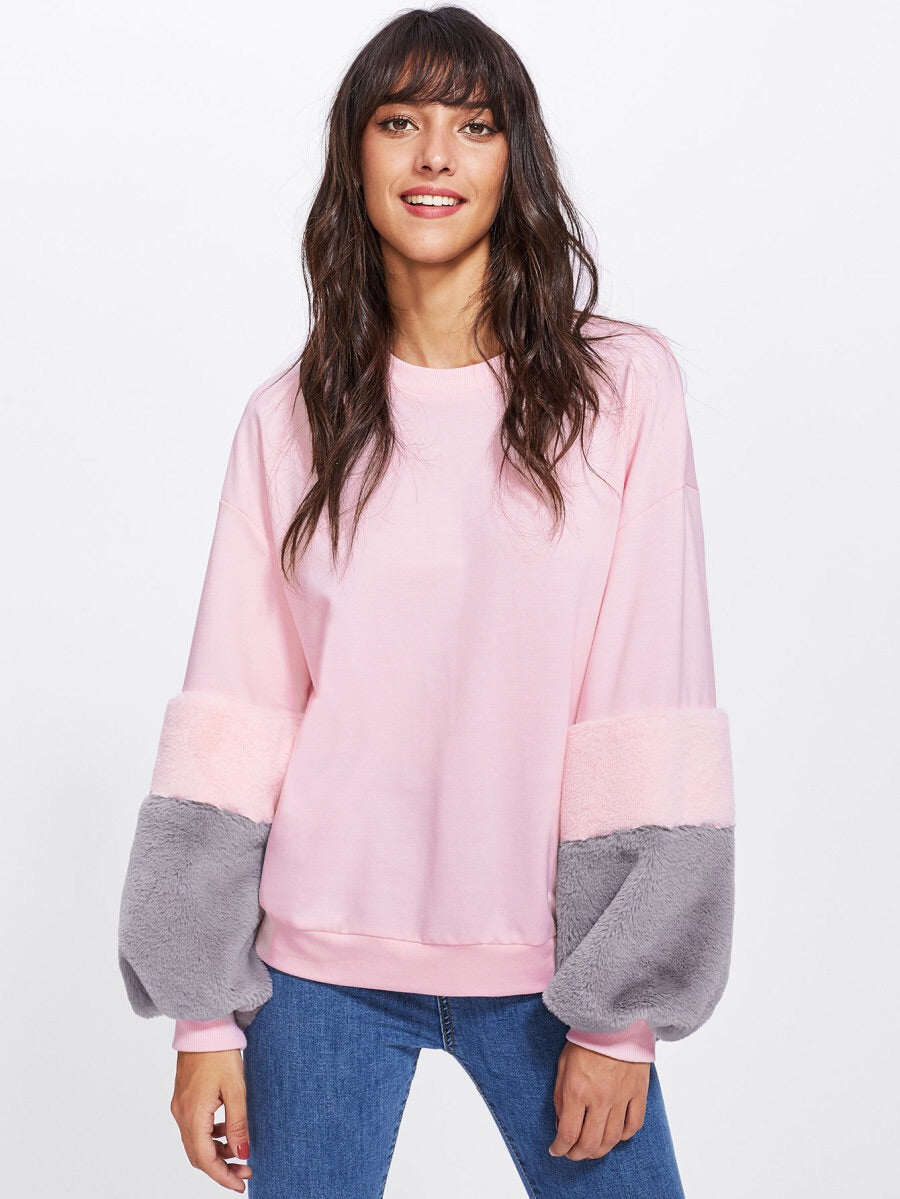 Francois faux fur jumper