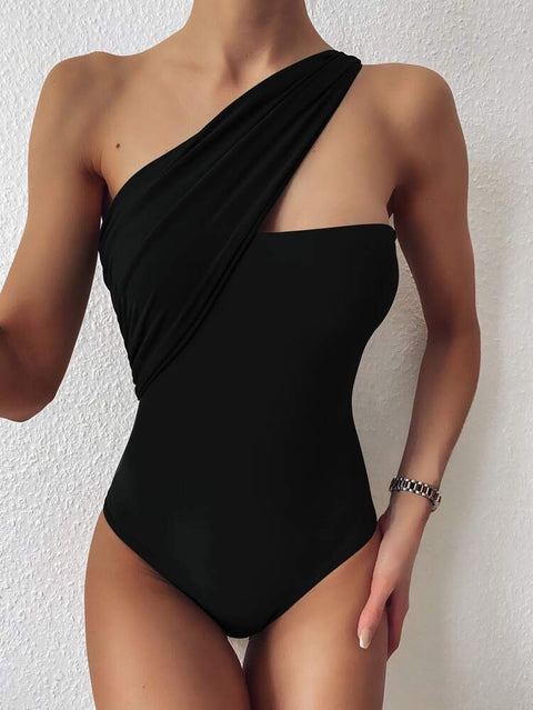 Jay black one piece swimsuit