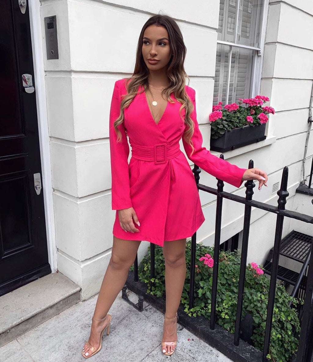 Liana pink blazer dress