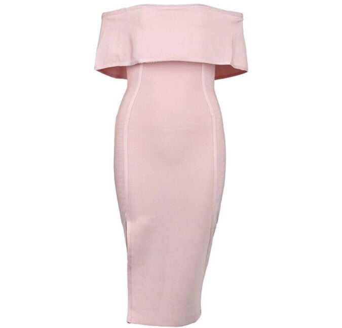 Roza light pink dress