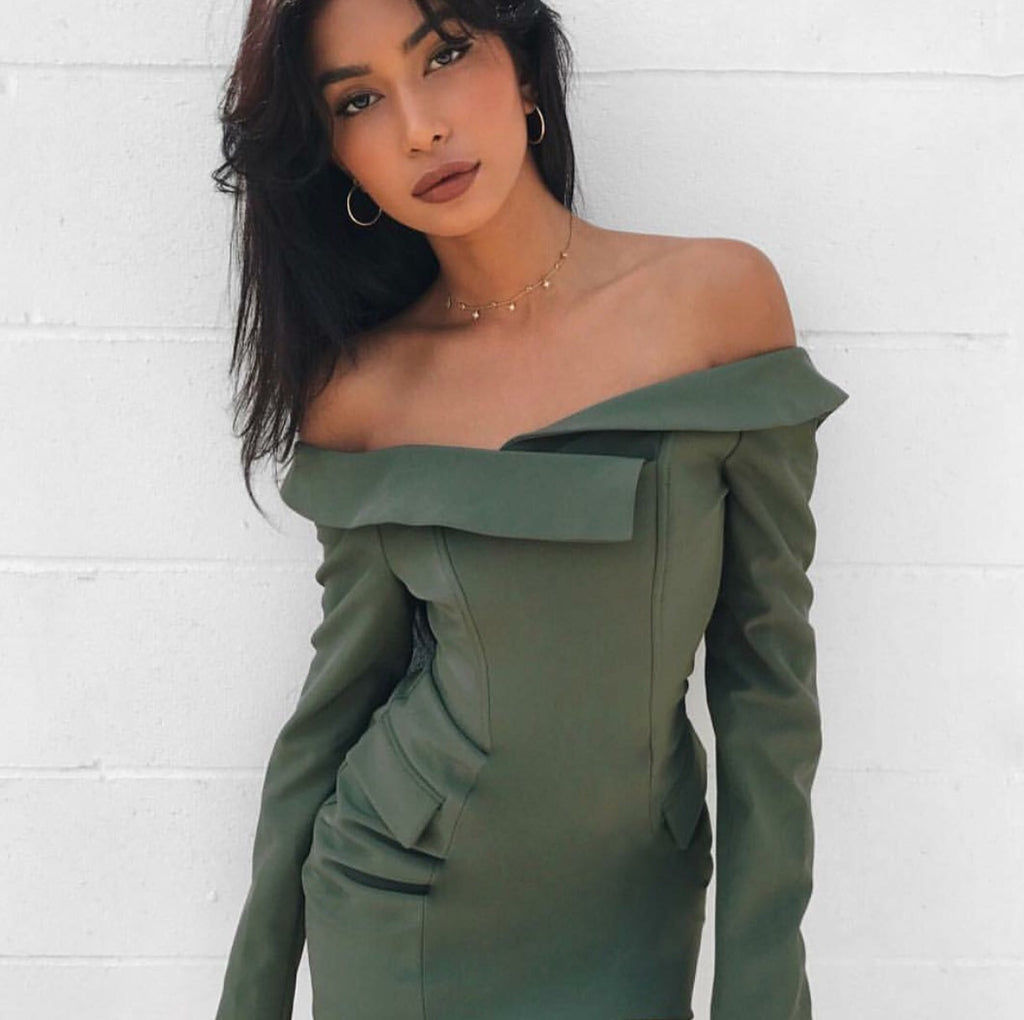 Marnie khaki dress