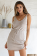 Ellie oatmeal knit dress