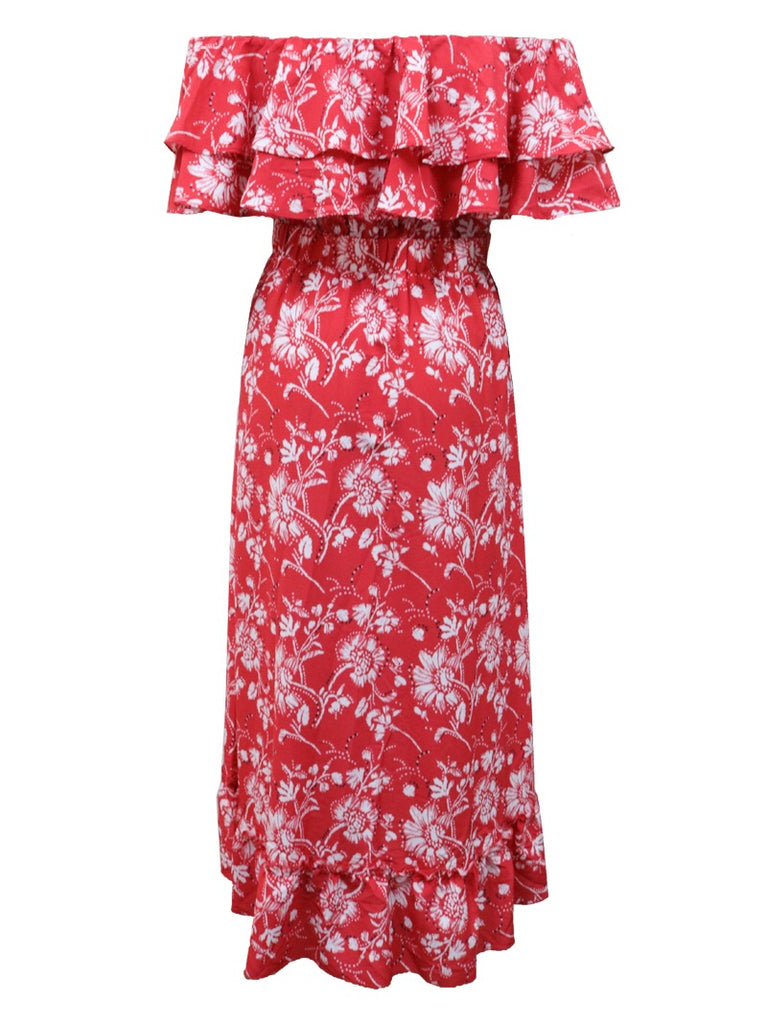 Valou red maxi dress