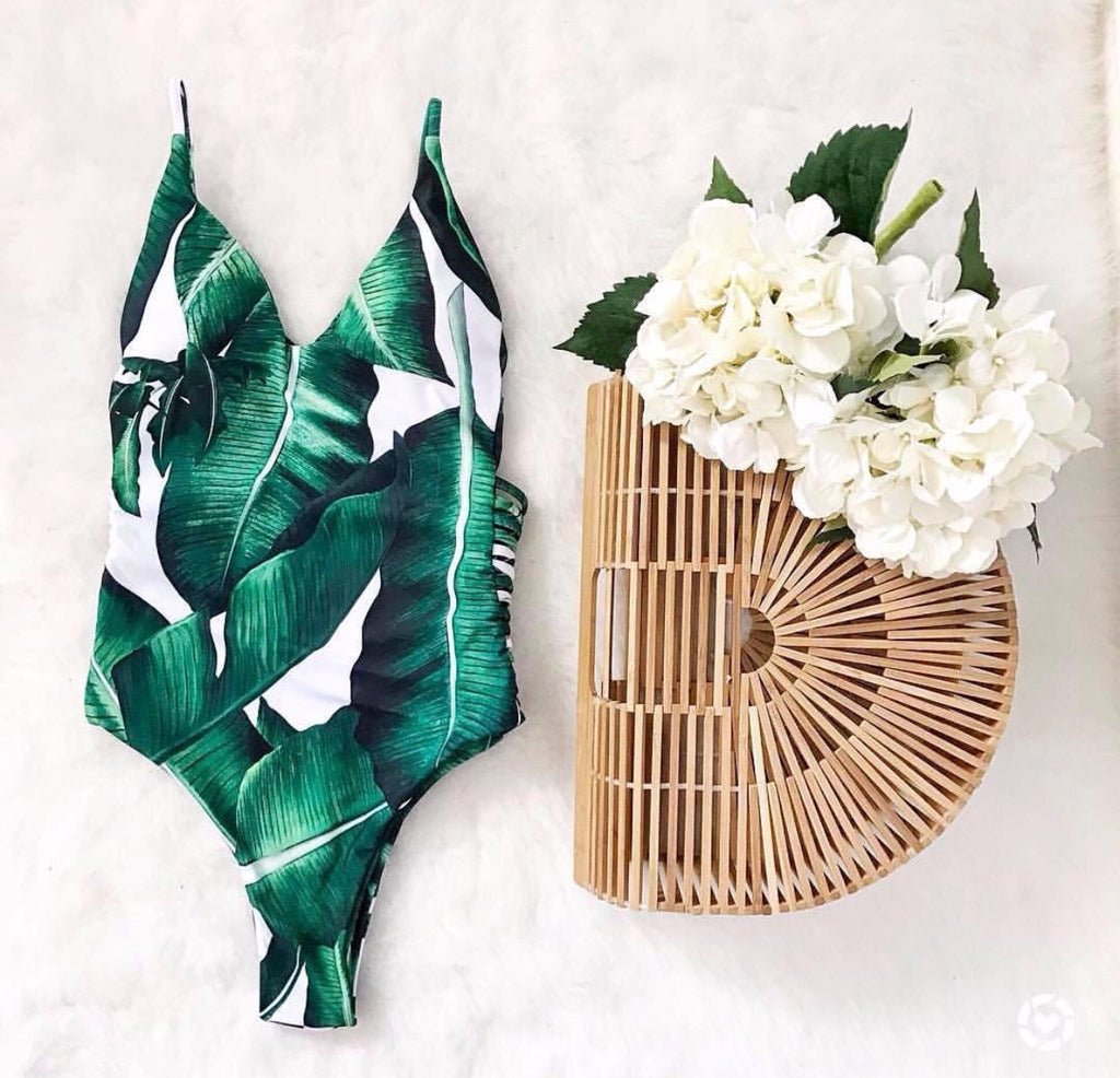 Cali Palm print swimsuit