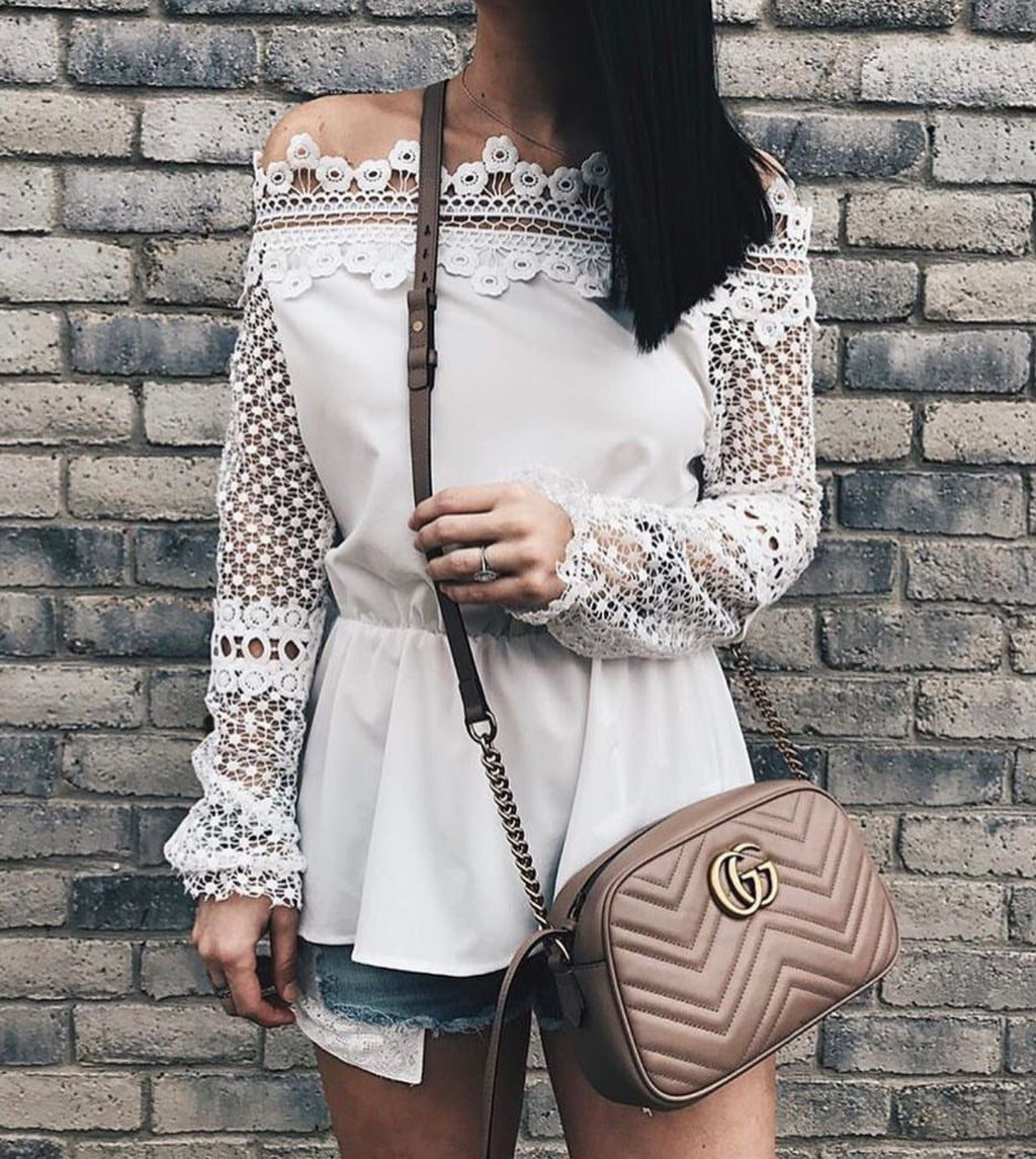 Claudia white blouse
