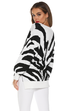 Racin stripes black white sweater