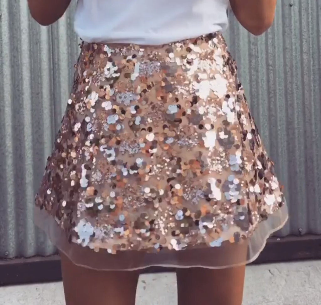 0872df451350 Bec gold sequin skirt Bec gold sequin skirt ...