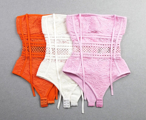 Chloe bodysuit available in Pink, White and Orange