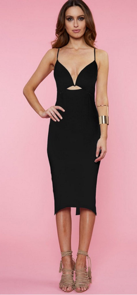Alana black dress