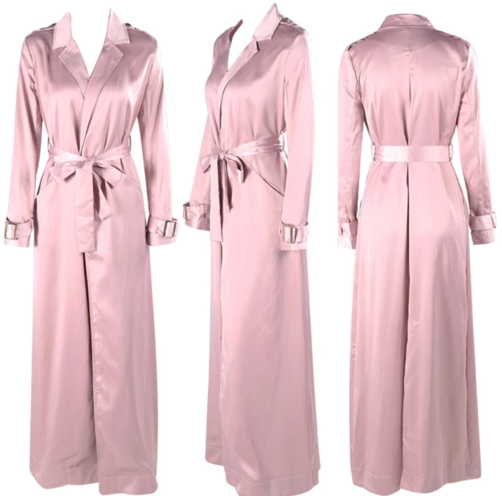 Kellis mauve trench coat