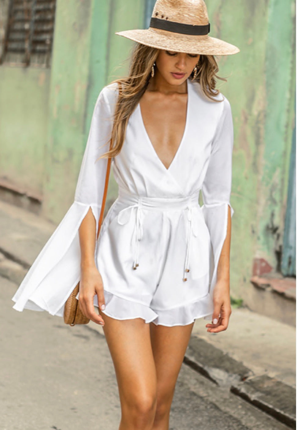 Gem white playsuit