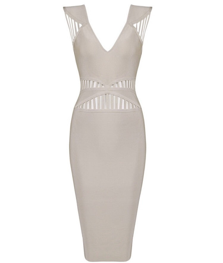 Roma beige bandage dress