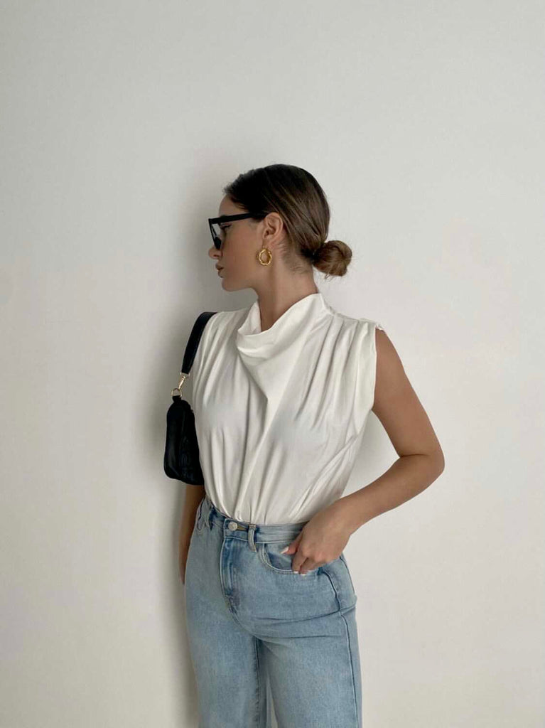 Blaze white sleeveless top