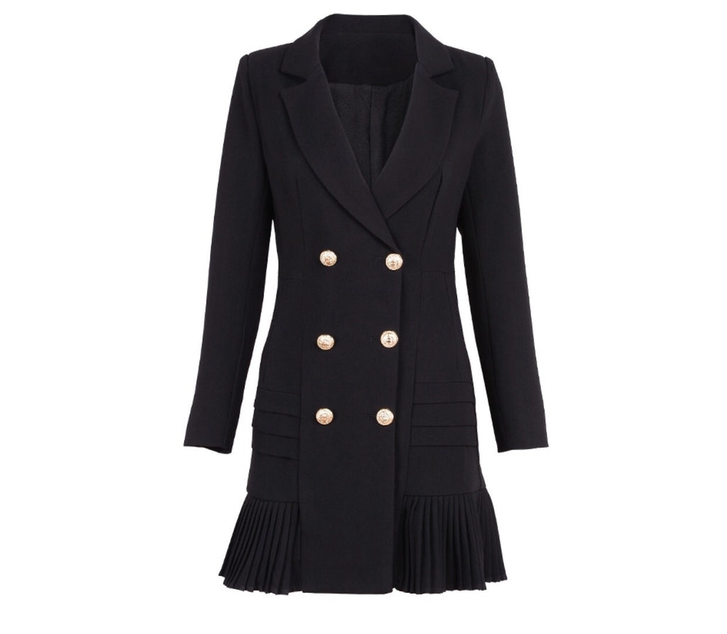 Tarra Double breasted black Dress Jacket