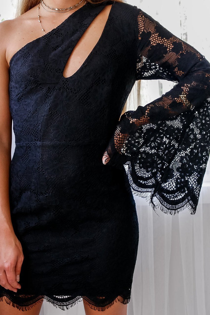 Rosie black lace dress
