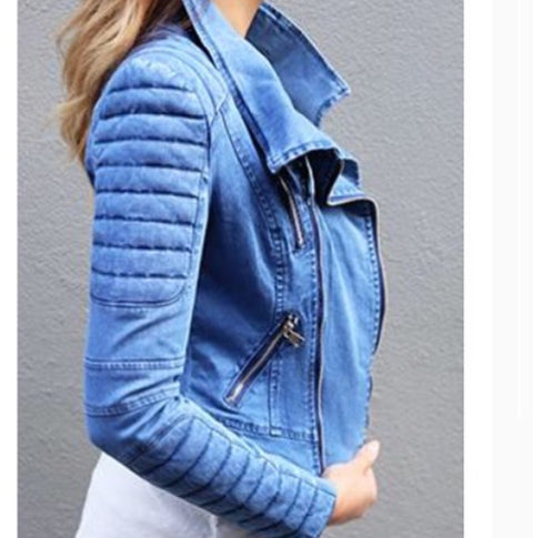 Bessy Denim Biker Jacket