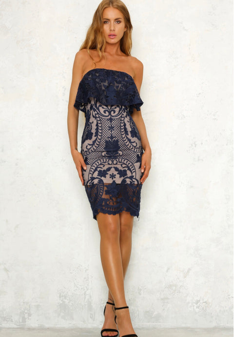 Gemima navy dress