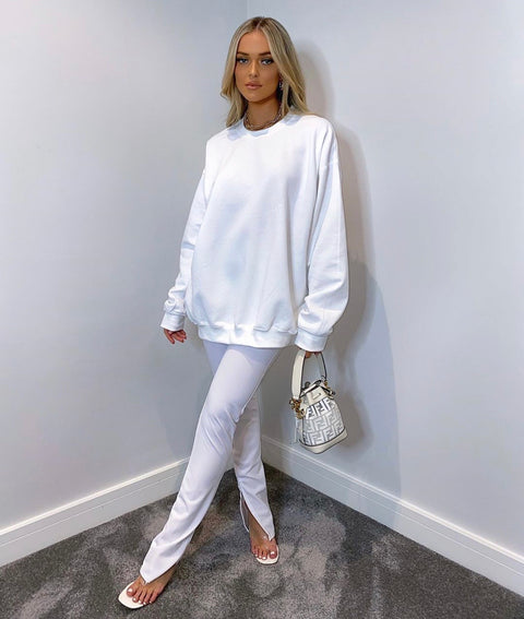 Josefin white oversized jumper