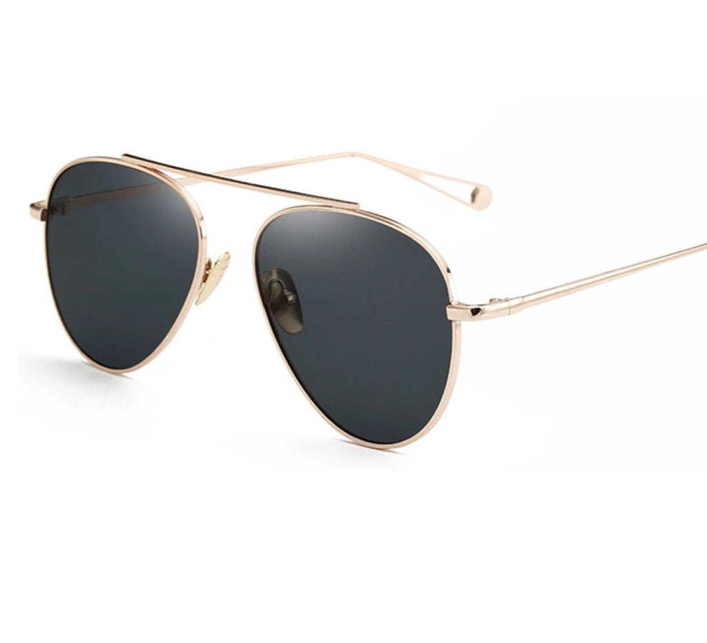 Amanda gold frame sunglasses