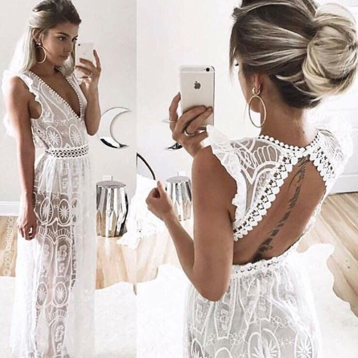 Eva White Lace Dress