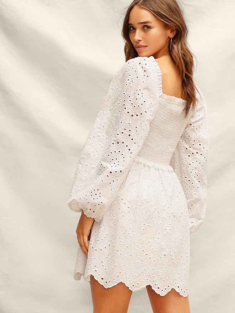 9963428171 Louise white dress. Images   1   2   3