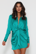 Ruby teal shirt dress