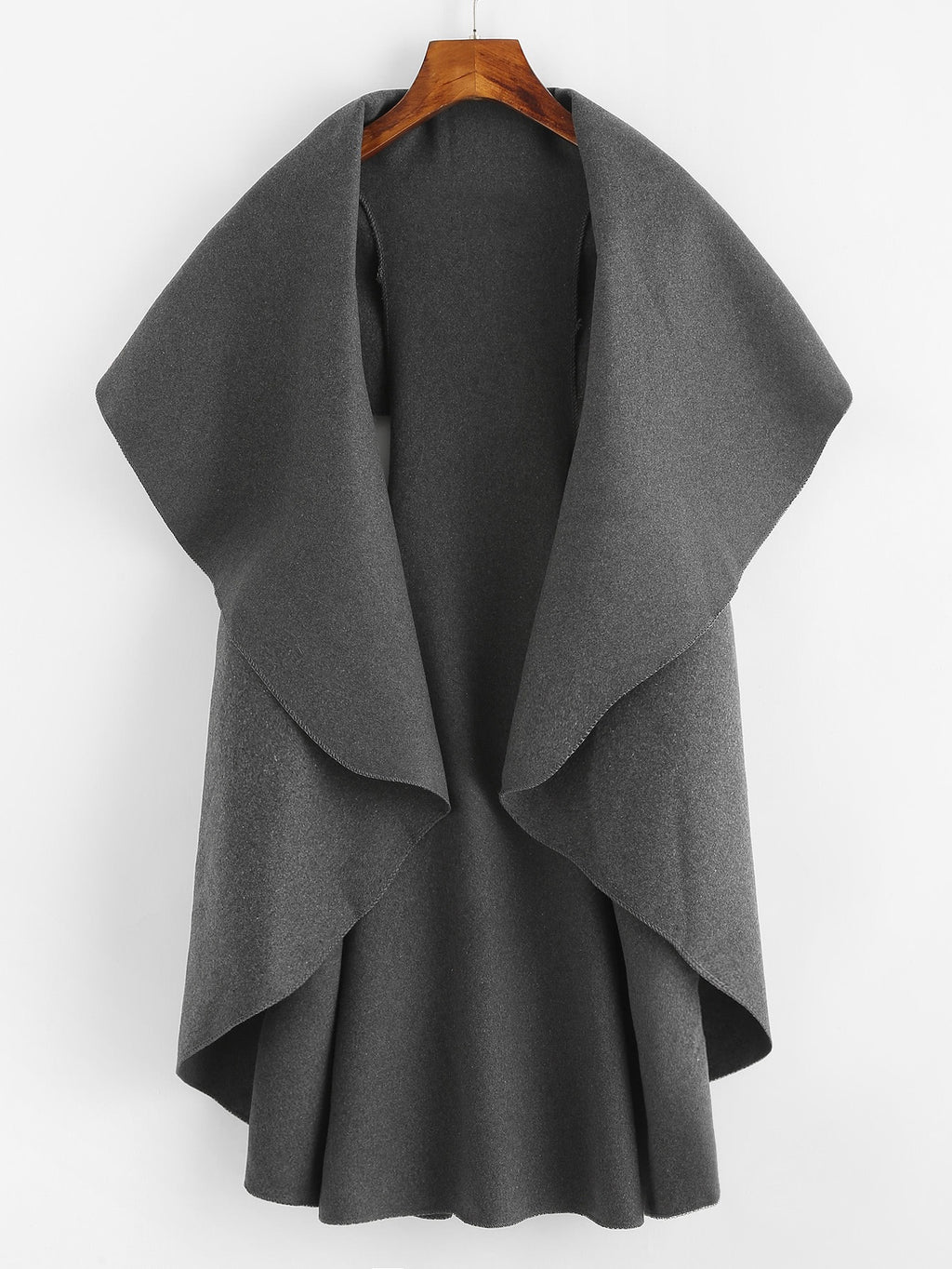 Hannah Charcoal Sleeveless Coat