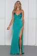 Adeline teal maxi dress