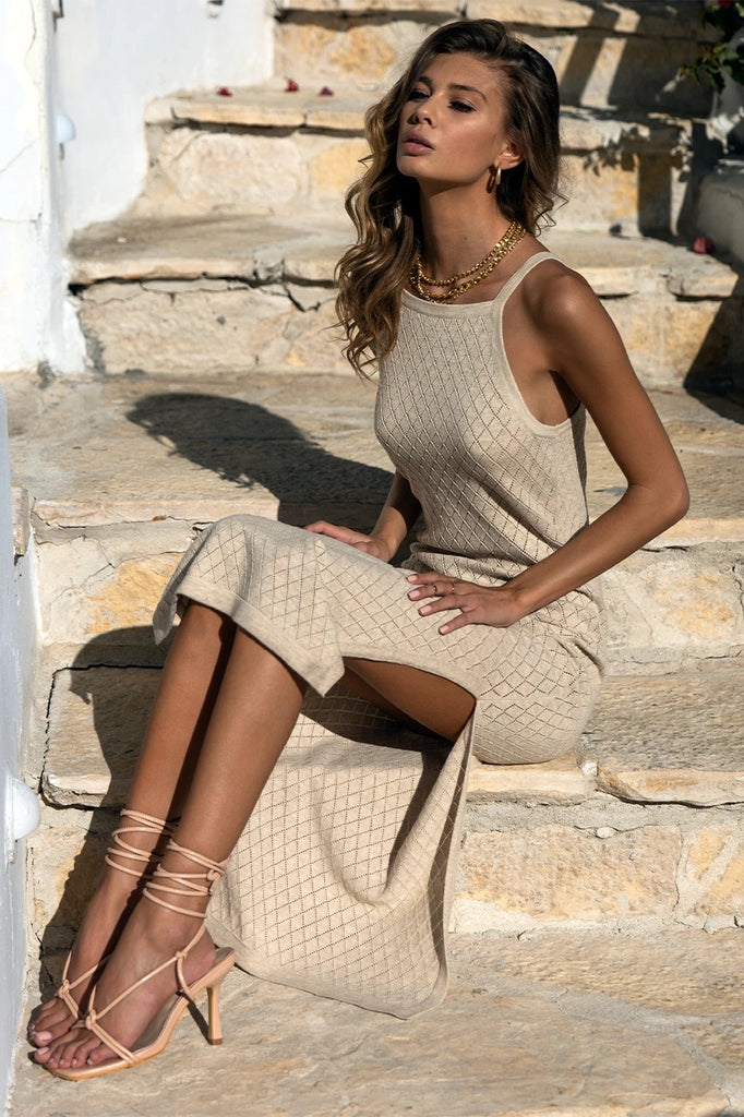 Barbados hessian dress