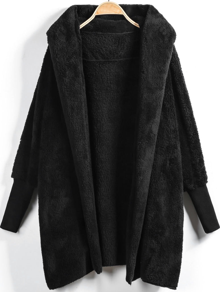 Molinda black hooded jacket