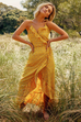 Swanson yellow floral maxi dress