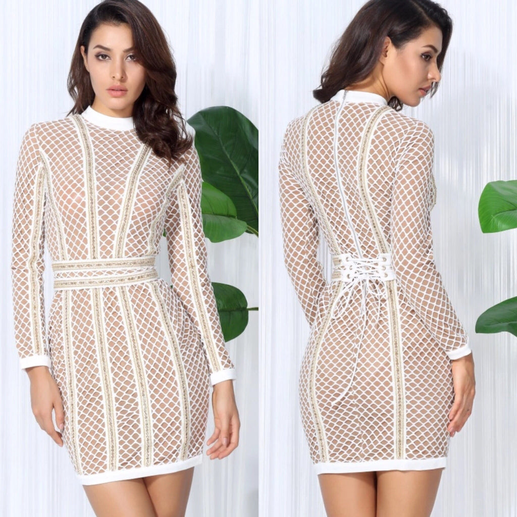 Jemima long sleeve dress