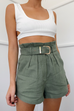 Belle sage paper bag shorts