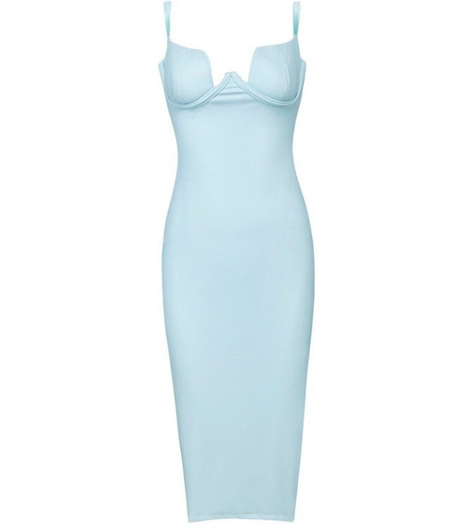Mindianna Light Blue Dress