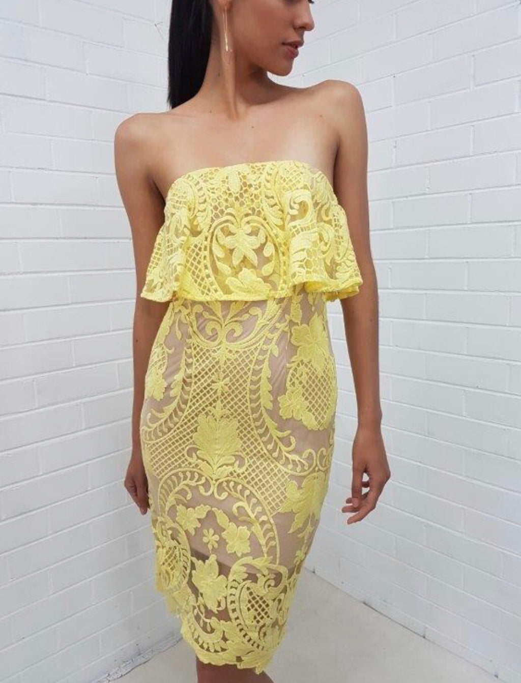 Gemima yellow dress