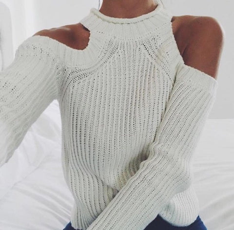 Avenue white knit jumper