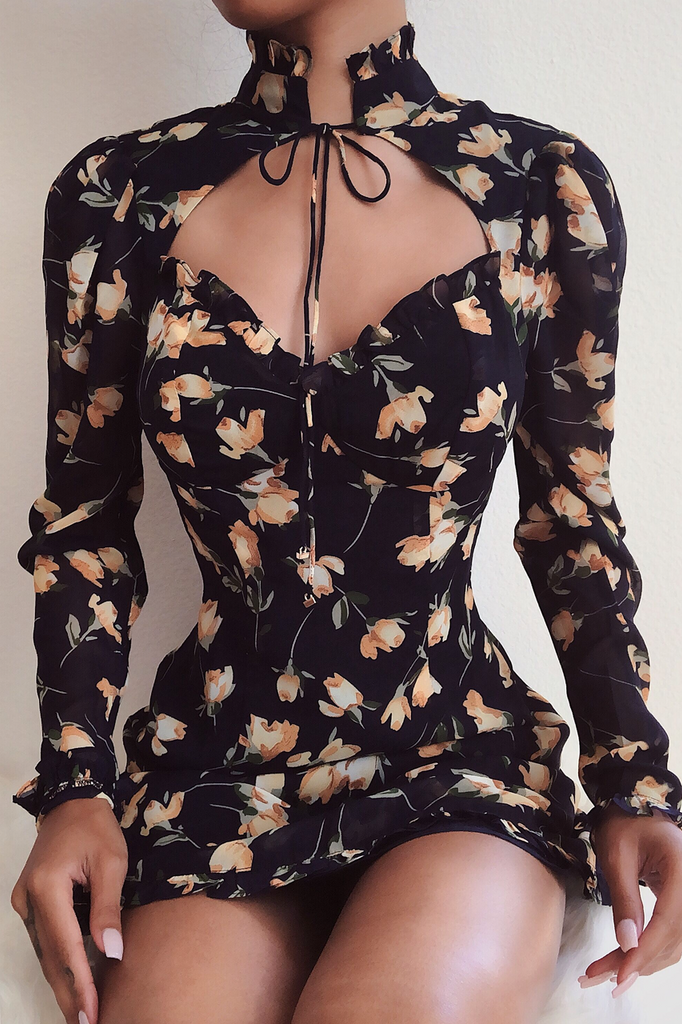 Harper navy floral dress