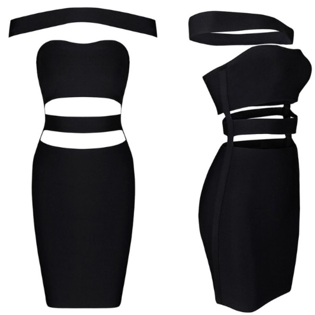 Cinca Black Bandage Dress