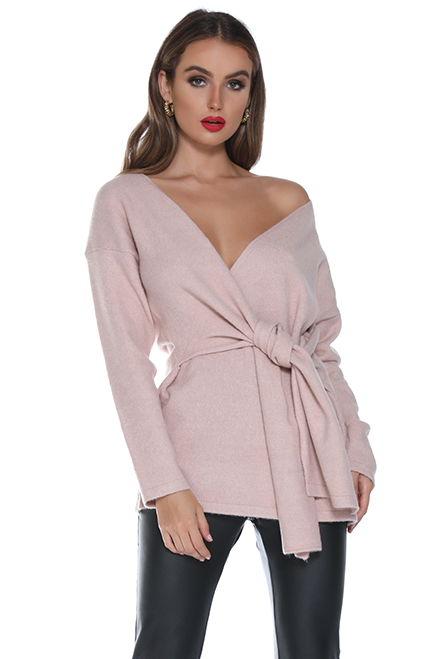 Knot today blush jumper