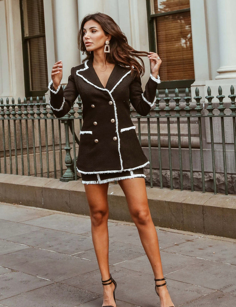 Catia black and white blazer