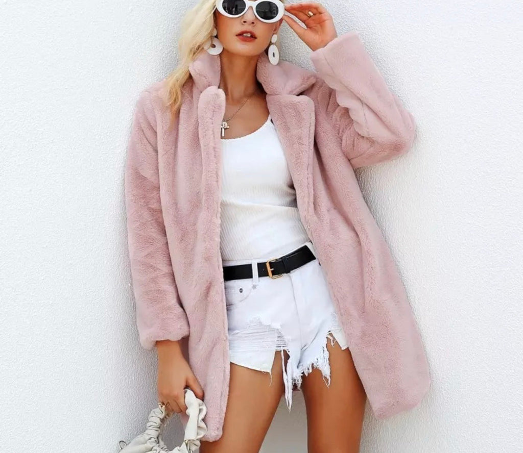 Kylie faux fur musk coat
