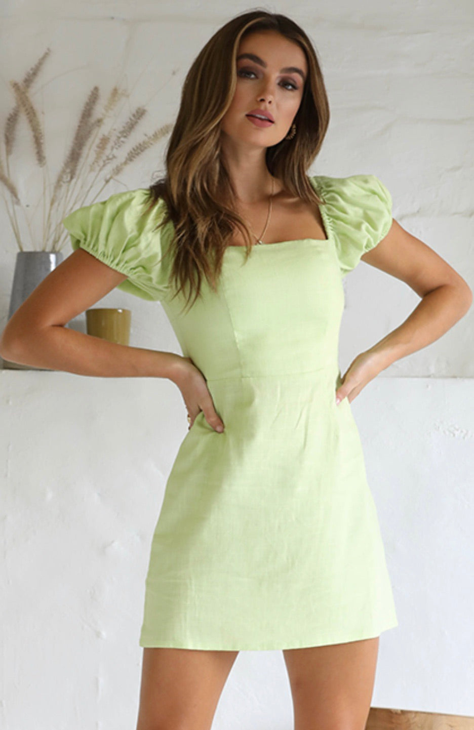 Millie Lime Mini Dress