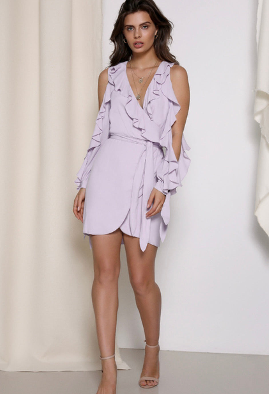 Harlow lilac wrap dress