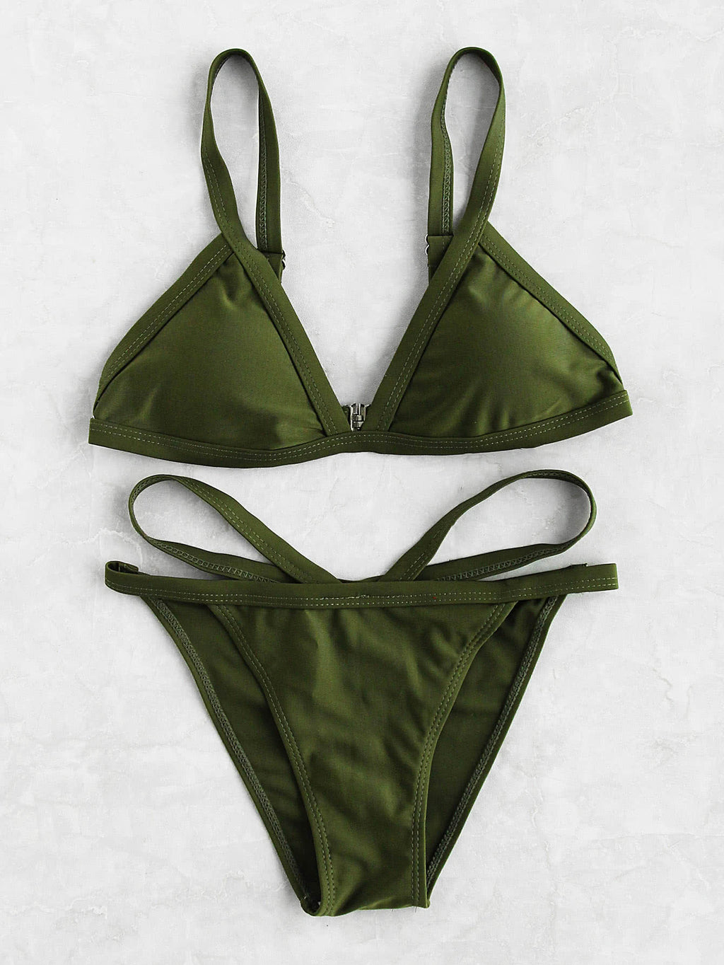 Miley khaki bikini set
