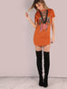 Rad orange mini dress