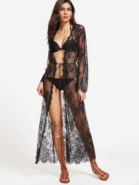 Nicole black sheer kaftan