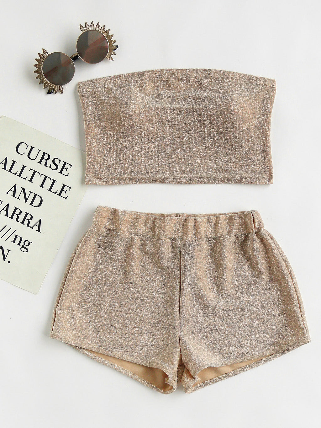 Mensa Sparkle Crop Top and Short Set
