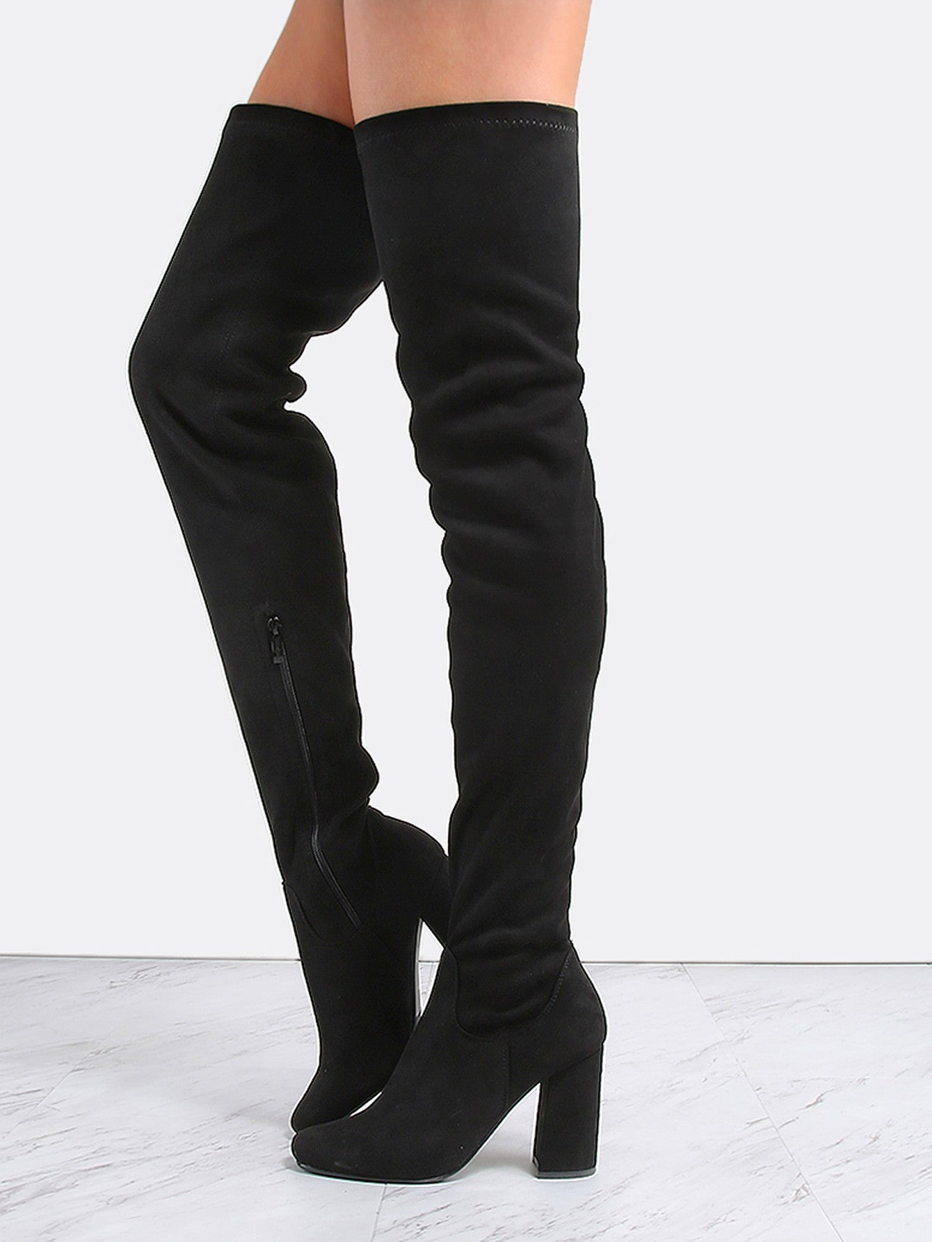 4e9a86456b2 Tahlia Black Thigh High Boots – Love Storey Boutique