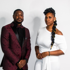 Andriea Denise with Rev Andre D Lee at book release and signing party 2018