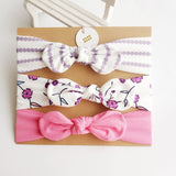 3pcs/set Baby Headband For Girls - Hair Accessories Made From Cotton